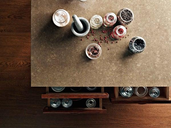 4360 Wild Rice quartz kitchen worktop